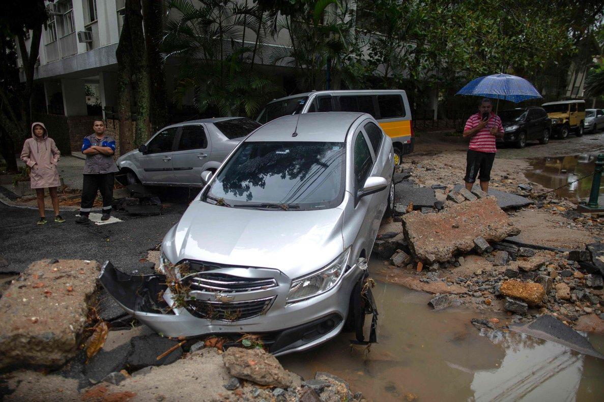 Las lluvias en Río de Janeiro provocaron inumerables daños materiales.