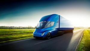 El camión eléctrico de Tesla.