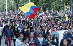 Protestas sociales en las principales ciudades de Colombia.