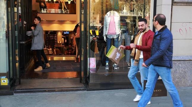 Establecimiento comercial del paseo de Gràcia.