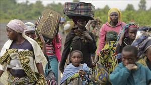 Un grupo de desplazados de guerra en la República Democrática del Congo en una fotografía del 2012.
