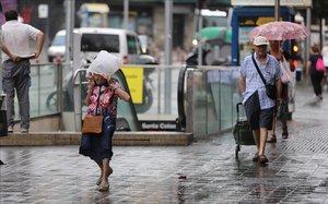 Día de lluvia en Santa Coloma de Gramenet.