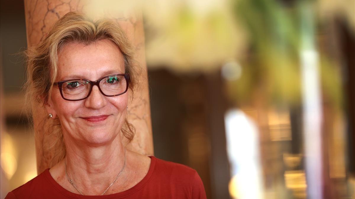 Elizabeth Strout, en su visita a Barcelona el año 2016