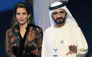 El emir y su esposa, Haya.