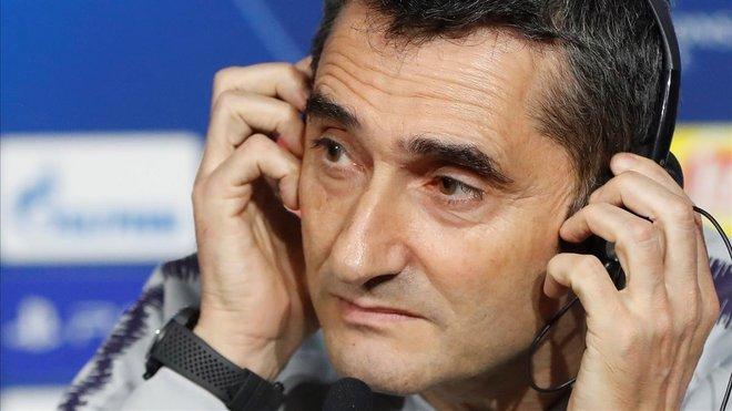 Ernesto Valverde, entrenador del Barça.