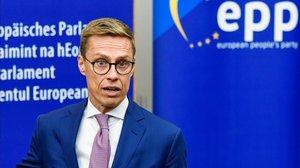 El exprimer ministro finlandes y actual ministro de Economia, Alexander Stubb.