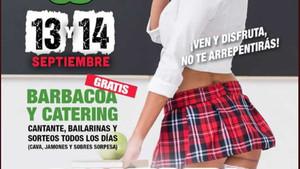 Denunciat un club nocturn de Lleida per incitar a la pornografia infantil en un cartell