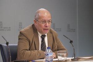 Vicepresidente de la Junta de Castilla y León, Francisco Igea, en la rueda de prensa posterior al Consejo de Gobierno.