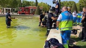 Mor succionat per una tuberia en una font de Madrid