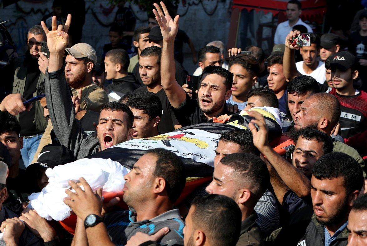 Funeral de Baha Abu Al-Ata, en Gaza.