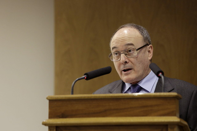 El gobernador del Banco de España. Luis María Linde.
