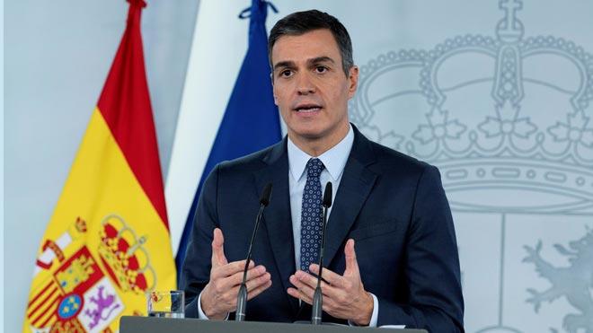 El Gobierno aprueba un estado de alarma que quiere llevar hasta el 9 de mayo. En la foto, Pedro Sánchez.