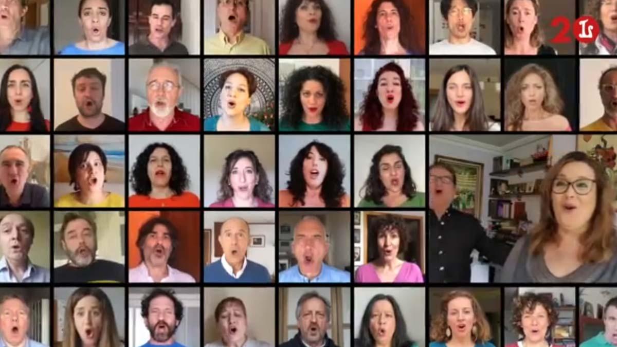 El Gran Teatre del Liceu graba un vídeo de esperanza en el futuro.