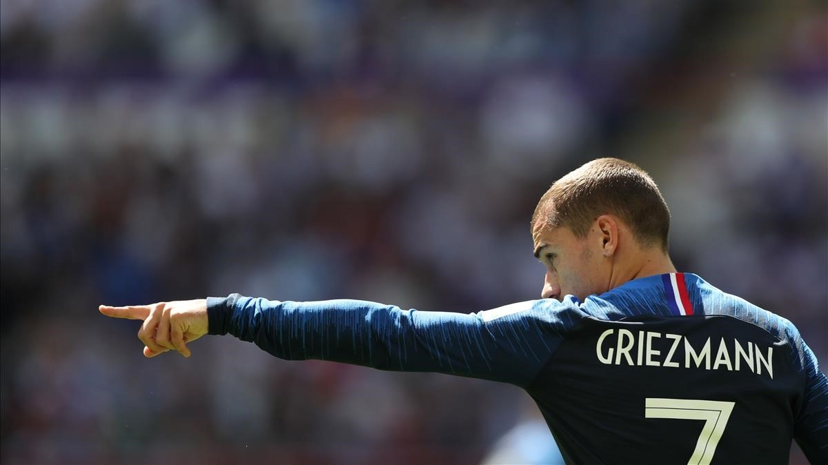 Griezmann en el partido frente Australia