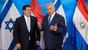 Horacio Cartes y Binyamin Netanyahu.