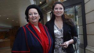 Montserrat Caballé y su hija, Montserrat Martí, en el 2007.