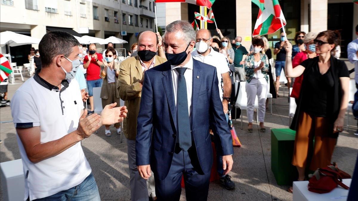 Iñigo Urkullu, en un mitin del PNV, en San Sebastián.