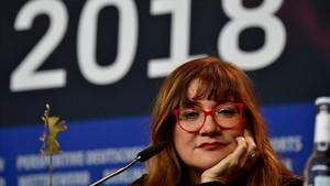 Isabel Coixet, este viernes en la Berlinale, donde presentó 'La librería'