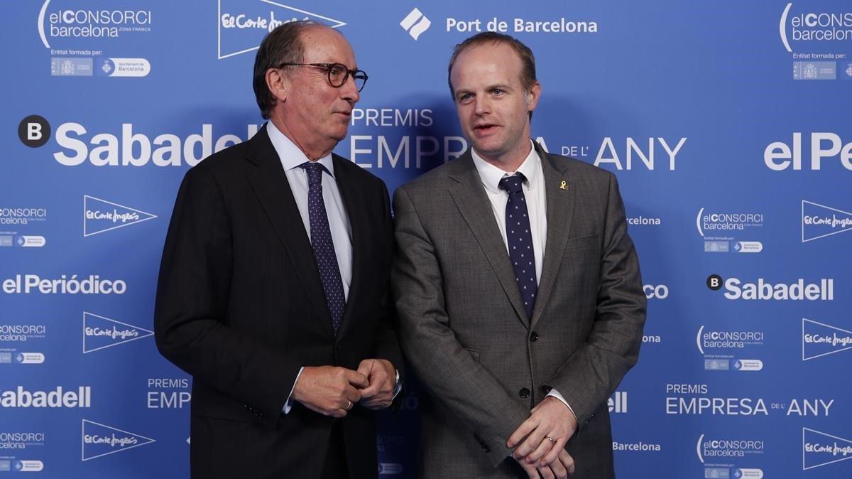 De izquierda a derecha, Manuel Brufauy Albert Castellanos.