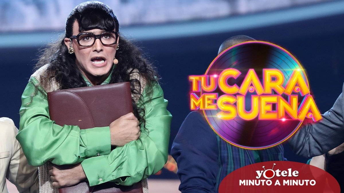 Jorge González imitando a 'Betty, la fea' en 'Tu cara me suena 8'.