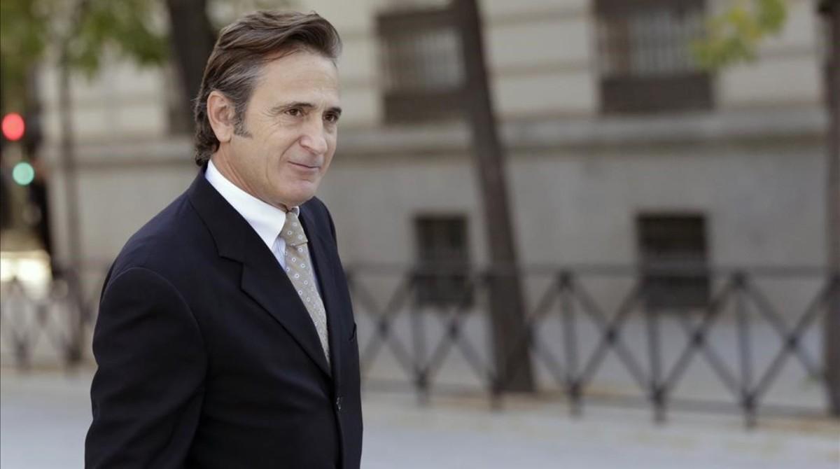 Josep Pujol Ferrusola, en noviembre del 2015, cuando acudió a declarar como imputado en la Audiencia Nacional.