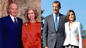 Una imagen de Juan Carlos, Sofia, Felipe y Letzia.