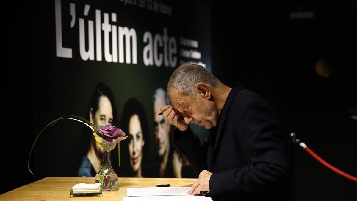 Lluís Pasqual en la ceremonia del Premio del Gremi dEditors.
