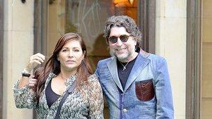 Joaquín Sabina y Jimena Coronado, en Madrid.