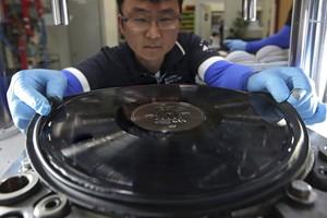 Machang Music, fábrica de discos de vinilo en Corea del Sur.