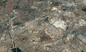 Vista aérea del sureste de Madrid.