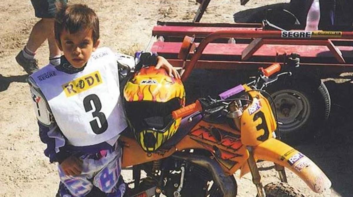 Marc Márquez, en sus inicios con una moto de cross.