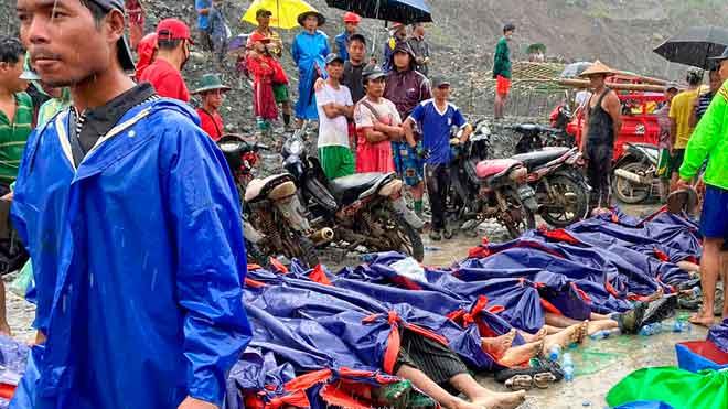 Al menos 113 muertos tras un accidente en una mina de jade en Birmania.
