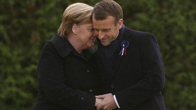 Mensaje europeísta de Macron y Merkel al conmemorar el centenario del armisticio