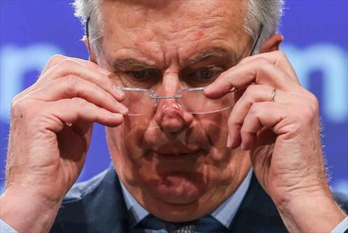 Michel Barnier, negociador jefe de la UE para el 'brexit', ayer en Bruselas.