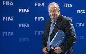 Michel D'Hooghe, en una reunión de la FIFA en Zúrich