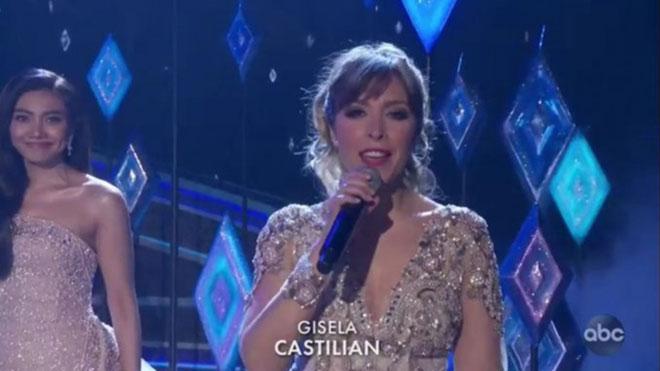 Oscars 2020. Polémica en la actuación de Gisela. ¿Cantó en castellano o en español?.