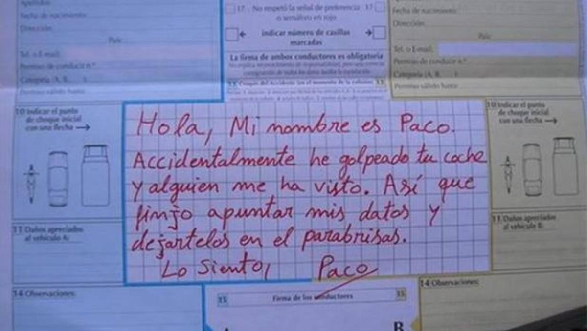 """""""Lo siento, Paco"""": así alerta la Guardia Civil contra conductores incívicos cuando se produce un accidente"""