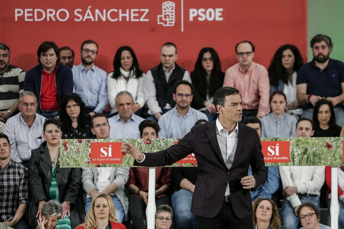 Pedro Sánchez, durante el comité federal del PSOE de este sábado.