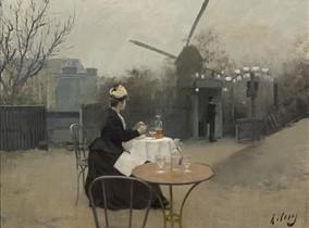 'Plein air' (1890-1891), óleo sobre tela de Ramon Casas.