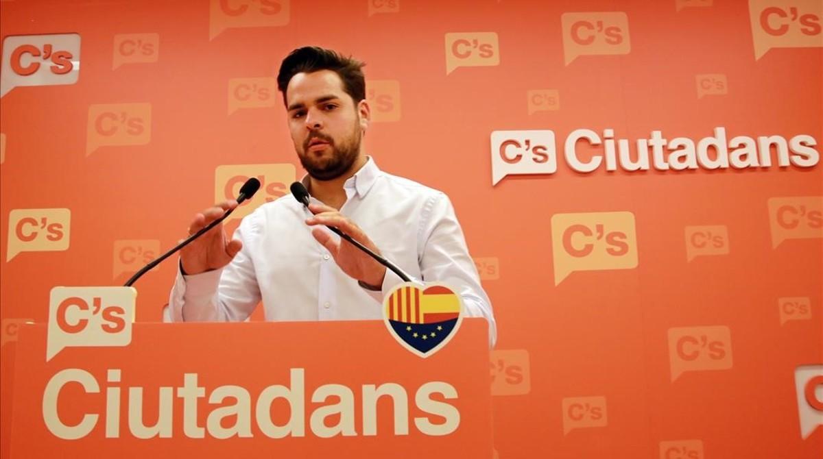 El portavoz adjunto de Ciutadans en el Parlament, Fernando de Páramo.
