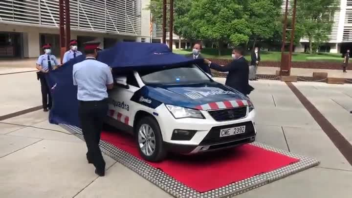 Presentación del nuevo coche de los Mossos d'Esquadra.