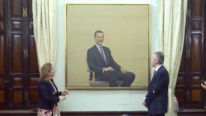 Presentación del retrato del rey Felipe VI en el Congreso.