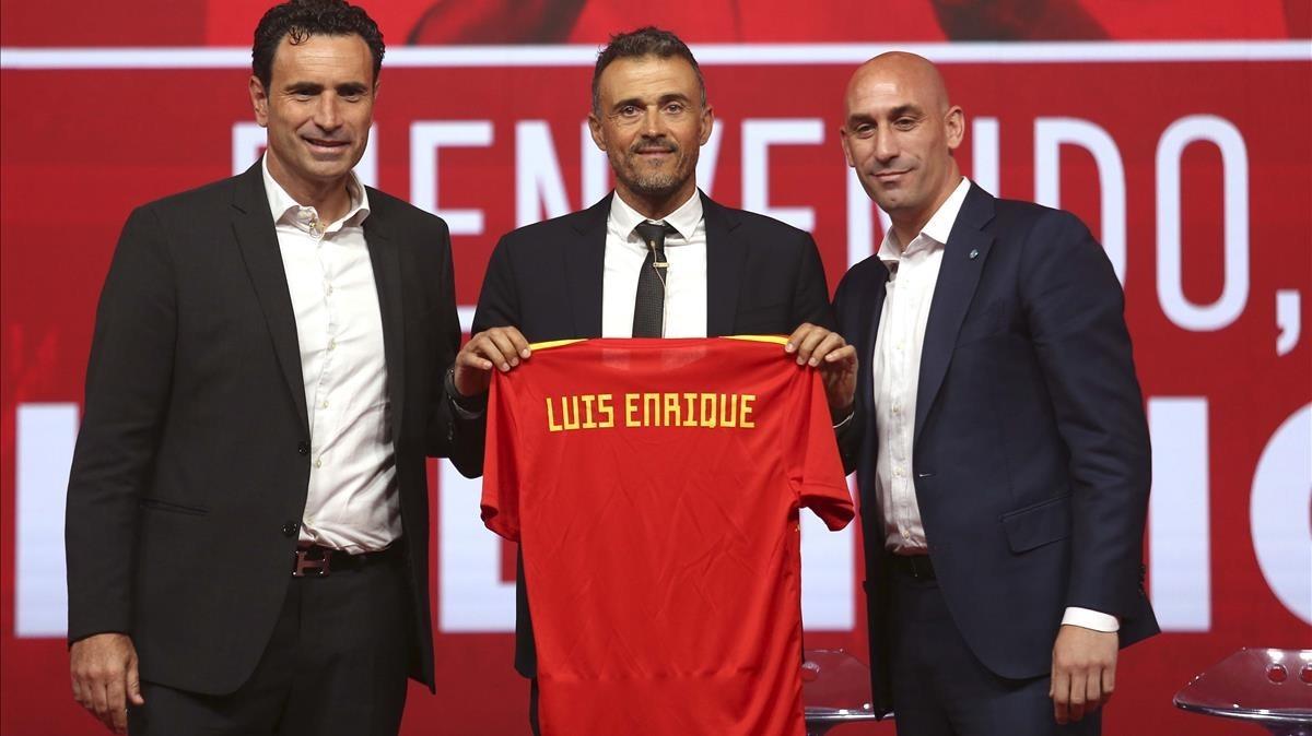 Presentación de Luis Enrique como nuevo entrenador de la selección española de fútbol.