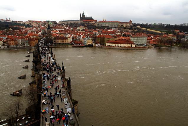 El puente Carlos, en Praga.