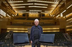 Promocion con RAIMON en el Auditori de Barcelona para el concierto que dara en diciembre de 2015 patrocinado por el Periodico.