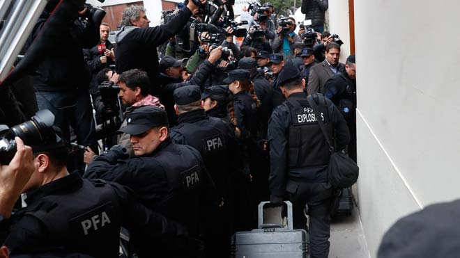 Registros en casa de la expresidenta argentina Cristina Fernández.