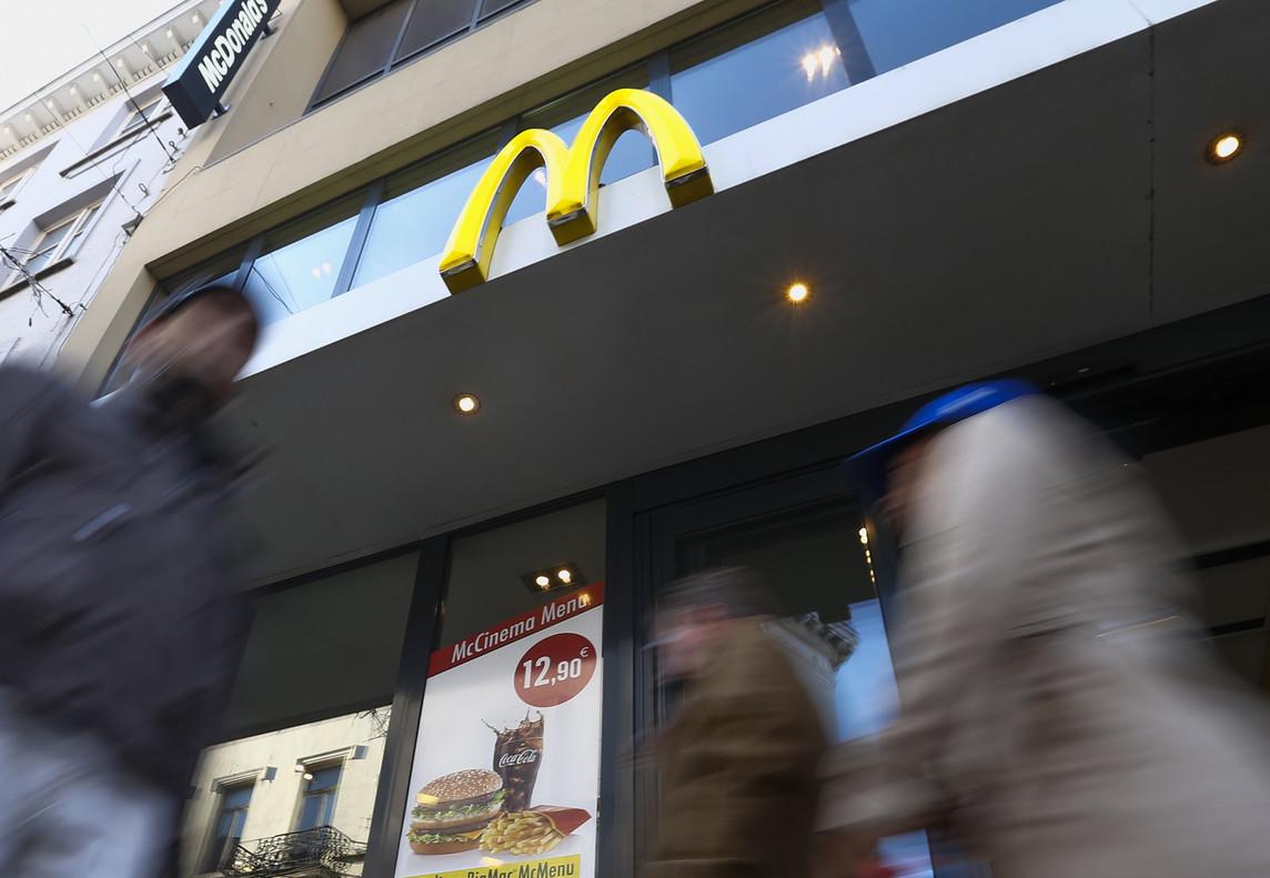 Un restaurante de McDonald's.
