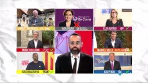 Risto Mejide con los candidatos que participarán en el debate de Todo es mentira sobre Barcelona.