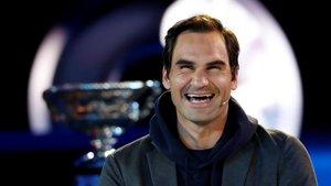 Roger Federer, en el sorteo del Abierto de Australia.