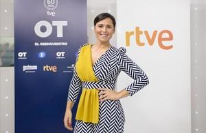 La cantante Rosa López, en la presentación de OT, el reencuentro de TVE.
